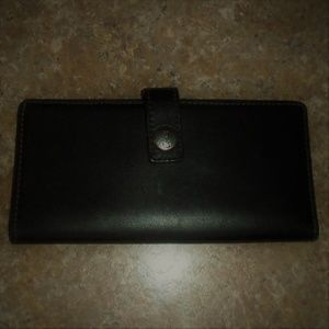 Coach Checkbook Wallet Black Leather Great Used 1!